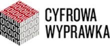 Logo Cyfrowej Wyprawki: kolorowa kostka.