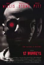 Element dekoracyjny: plakat z filmu Dwanaście małp