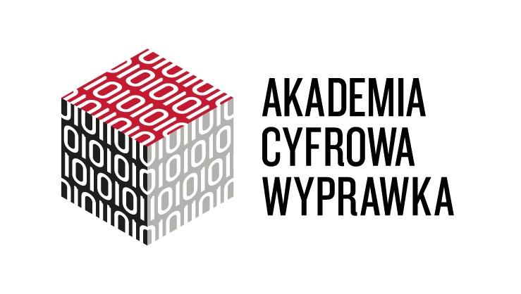 Element dekoracyjny: logo Akademii Cyfrowa Wyprawka