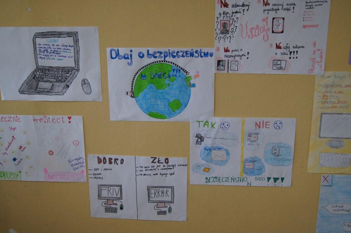 Zdjęcie materiałów powstałych na zajęciach
